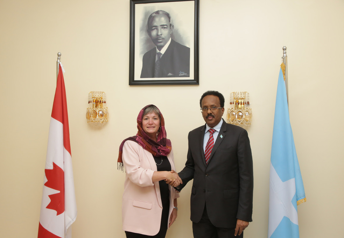 President Farmaajo receives credentials from Austrian and Canadian Ambassadors (7)