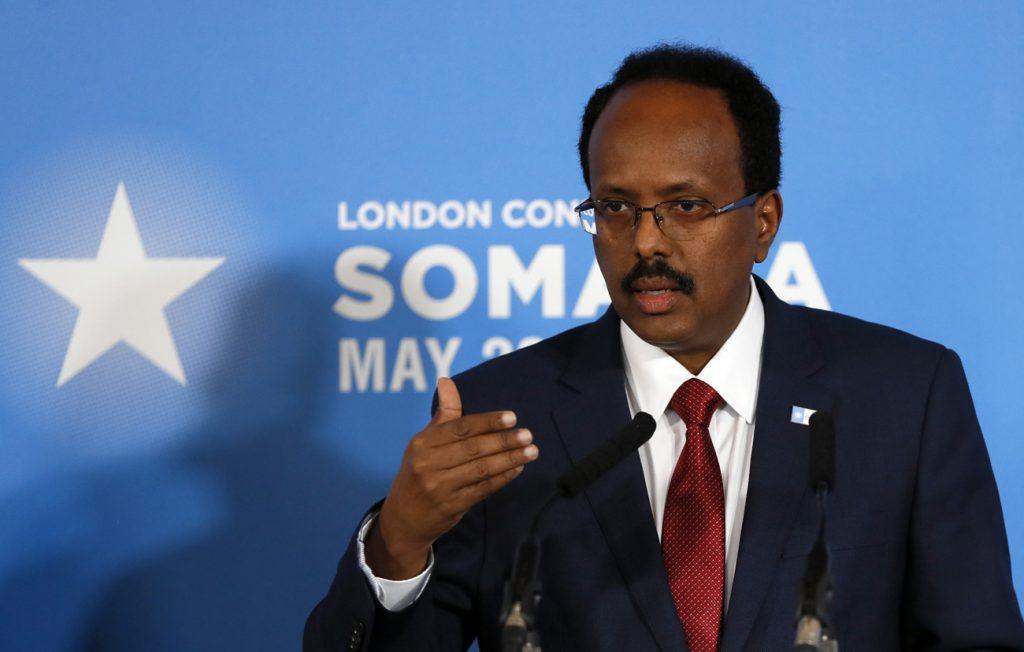 El presidente Farmajo en la Conferencia de Londres sobre Somalia de 2017 | Via: Ventures Africa